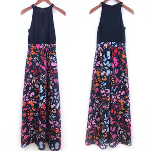 Vince Camuto Sleeveless Halter Floral Maxi Dress